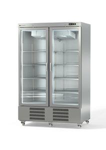 Coreco Edelstahltiefkühlschrank US Range 1400 mit Glastür