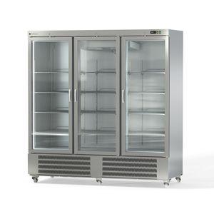 Coreco Edelstahlkühlschrank US Range 2200 mit Glastür