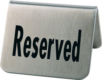 Chevalet de table «Reserved» APS, lot de 2, 5,5 x 5 cm chacun, hauteur : 3,5 cm