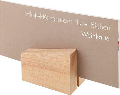 APS Kartenhalter, 2er Set  8,5 x 6 cm, H: 4,5 / 8,5 cm