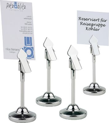 APS Tischkartenhalter, 4er Set Ø 4 cm, H: 10 cm