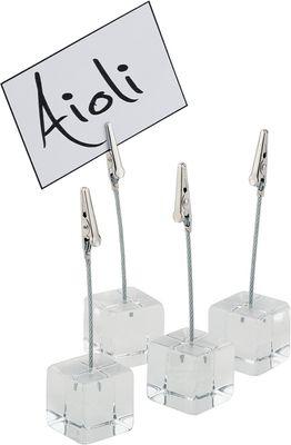 APS Kartenhalter, 4er Set  3 x 3 cm, H: 12 cm