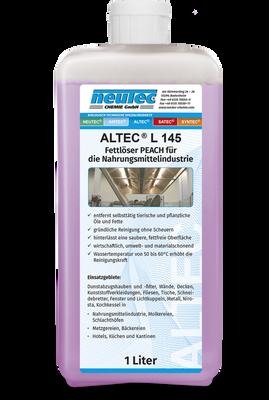 ALTEC L 145 Fettlöser Peach für die Nahrungsmittelindustrie 1 Liter Flasche