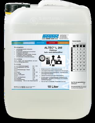 ALTEC L 260 Intensivreiniger & Fettlöser für den Lebensmittelbereich 10L Kanister