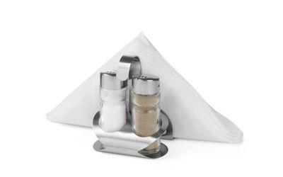 Ménagère 3pièces poivrière, salière et porte-serviettes