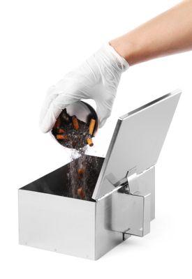 Bac collecteur de cendres en acier inoxydable