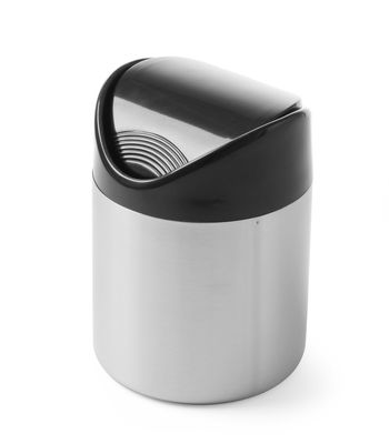 Tischabfallbehälter mit Schwingdeckel