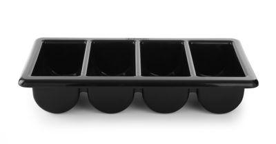 Besteckbehälter GN 1/1 - 4 Fächer schwarz