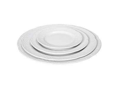 Assiette plate en porcelaine hôtelière série «Flore» 16cm