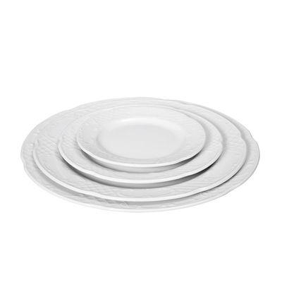 Assiette plate en porcelaine hôtelière série «Flore» 20cm