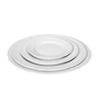 Assiette plate en porcelaine hôtelière série «Flore» 25,5cm