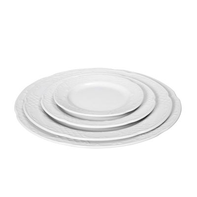 Assiette plate en porcelaine hôtelière série «Flore» 27cm