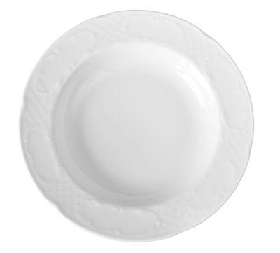 Assiette creuse en porcelaine hôtelière série «Flore» 24cm