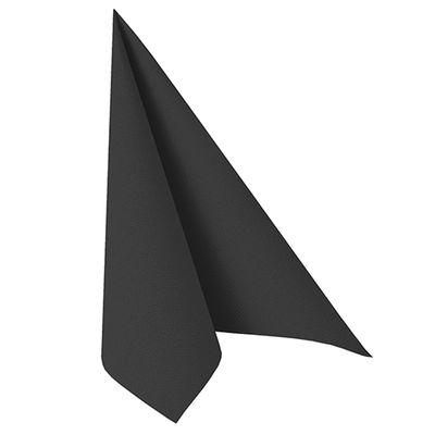 50 serviettes de table Papstar «ROYAL Collection» 1/4 de pli 40 cm x 40 cm noir