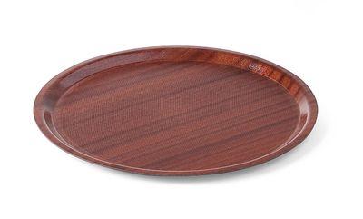 """Serviertablett """"Woodform"""" rund, flacher Rand"""