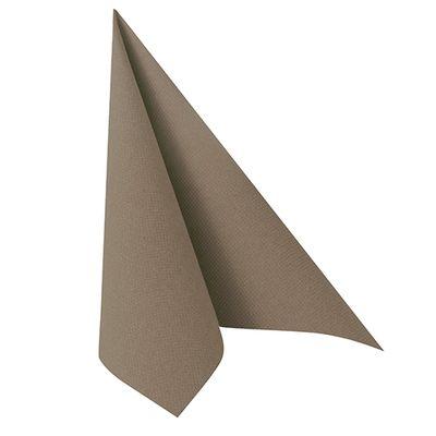 50 serviettes de table Papstar «Collection ROYAL» 1/4 de pli 40 cm x 40 cm gris