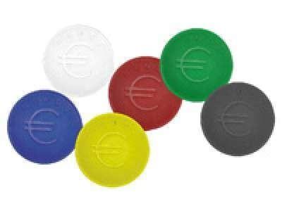 Pfandmünzen rot - 100 Stück