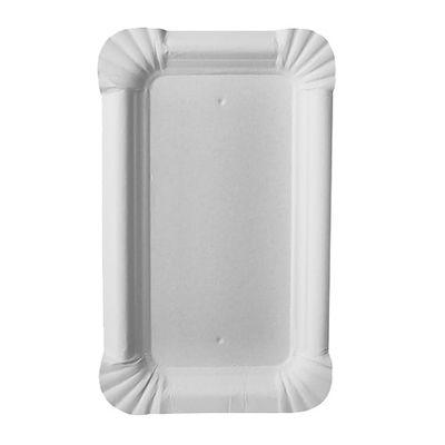 """250 assiettes Papstar, carton """"pur"""", carrées 9 cm x 15 cm, blanches"""
