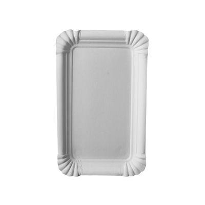 """250 assiettes Papstar, carton """"pur"""", carrées 10 cm x 16 cm, blanches"""