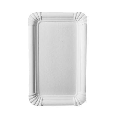 """250 assiettes Papstar, carton """"pur"""", carrées 11 cm x 17,5 cm, blanches"""