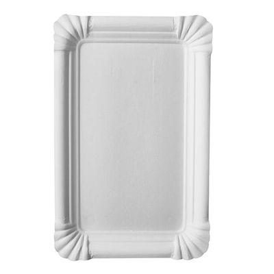 """250 assiettes Papstar, carton """"pur"""", carrées 13 cm x 20 cm, blanches"""