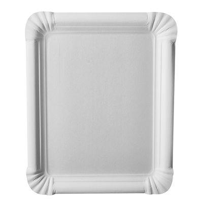 """250 assiettes Papstar, carton """"pur"""", carrées 16,5 cm x 20 cm, blanches"""