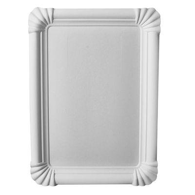 """250 assiettes Papstar, carton """"pur"""", carrées 16,5 cm x 23 cm, blanches"""