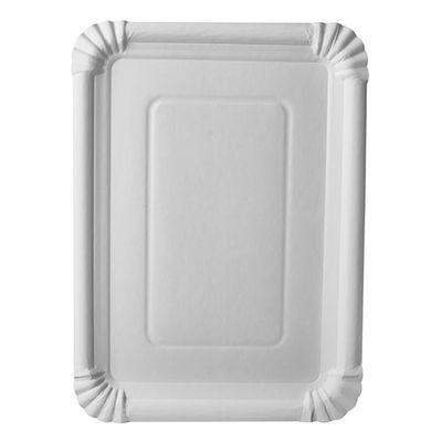 """250 assiettes Papstar, carton """"pur"""", carrées 21,5 cm x 29 cm, blanches"""