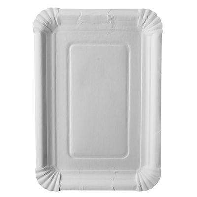 """250 assiettes Papstar, carton """"pur"""", carrées 18 cm x 26 cm, blanches"""