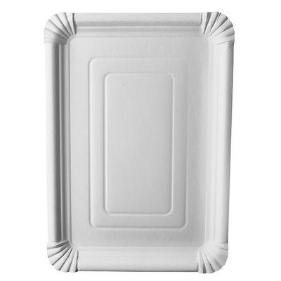 """125 assiettes Papstar, carton """"pur"""", carrées 24 cm x 33 cm, blanches"""