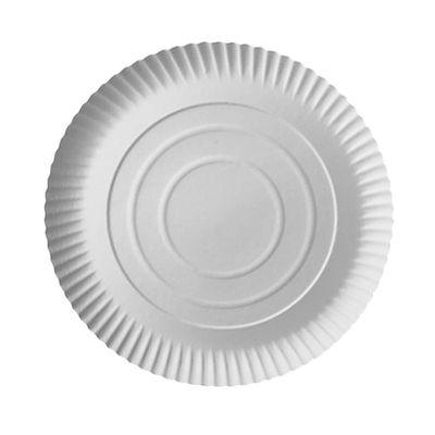 100 assiettes Papstar, carton «pure», rondes, Ø 26 cm x hauteur : 2 cm, blanches