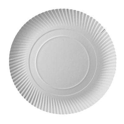 100 assiettes Papstar, carton «pure», rondes, Ø 32 cm x hauteur : 2 cm, blanches