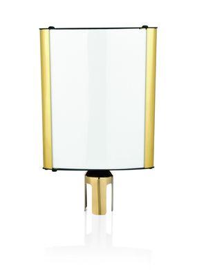 Info Tafel Delux für Abgrenzungsständer A4 titanium gold