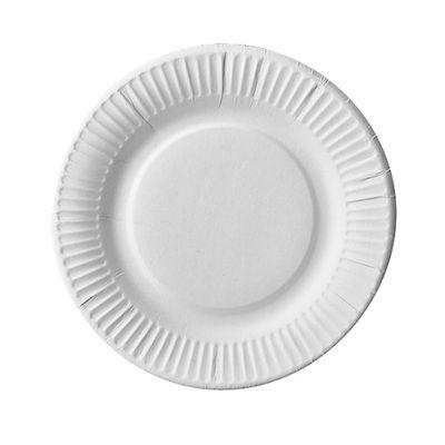 100 assiettes Papstar, carton «pure» rondes Ø 19 cm blanc extra solides