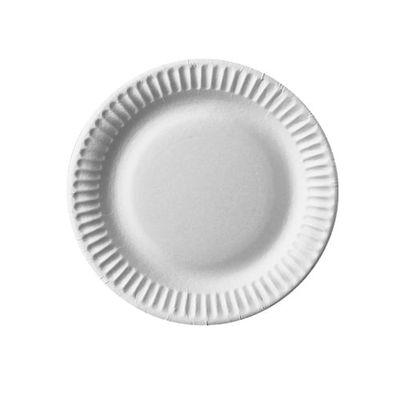 100 assiettes Papstar, carton «pure» rondes Ø 15 cm blanc
