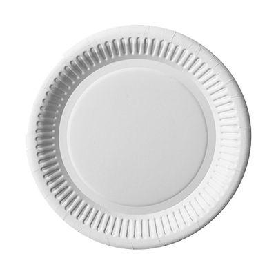100 assiettes Papstar, carton rondes Ø 20 cm blanc
