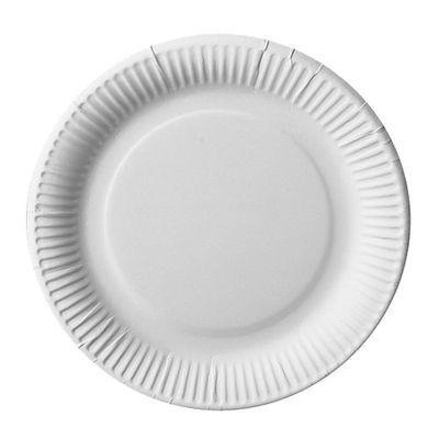 100 assiettes Papstar, carton «pure» rondes Ø 23 cm blanc extra solides