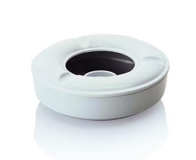 Cendrier coupe-vent - mélamine - 12,5cm - blanc