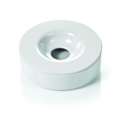 Cendrier coupe-vent - mélamine - 10cm - blanc