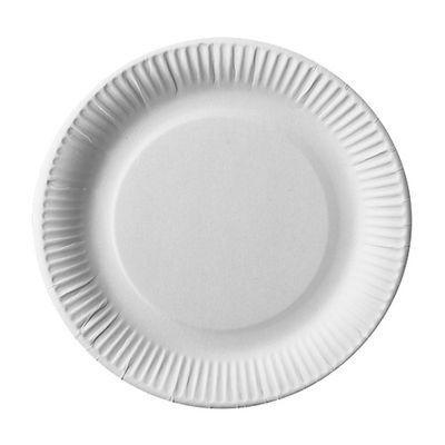 100 assiettes Papstar, carton «pure» rondes Ø 23 cm blanc