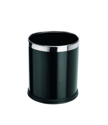 Papierkorb schwarz lackiert Metall