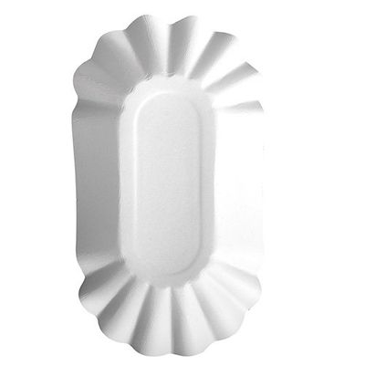 "250 barquettes Papstar, carton ""pur"", ovale, 10,5 cm x 20 cm x 3,5 cm, blanches"