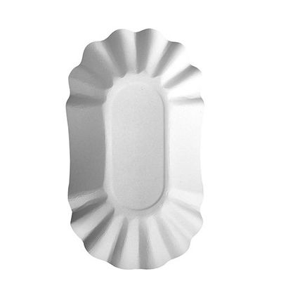"250 barquettes Papstar, carton ""pur"", ovale, 10,5 cm x 17,5 cm x 3 cm, blanches"