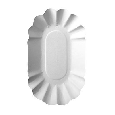 "250 barquettes Papstar, carton ""pur"", ovale, 9 cm x 16 cm x 3 cm, blanches"