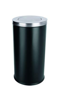 Mülleimer mit Schwingdeckel EXTRA GROSS, schwarz