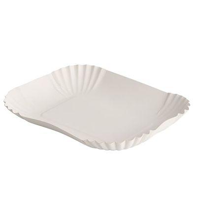 250 bols Papstar, carton «pure» carré 13 cm x 17,5 cm x 3 cm blanc