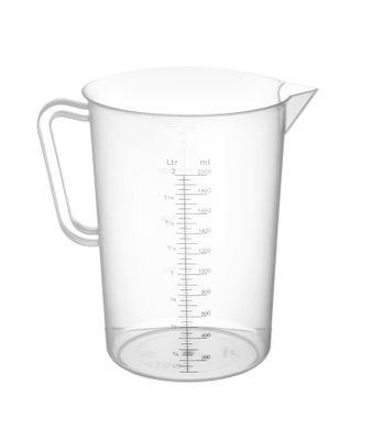 Kunststoff Messbecher, Inhalt 2,0 Liter