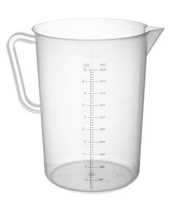 Kunststoff Messbecher, Inhalt 5,0 Liter