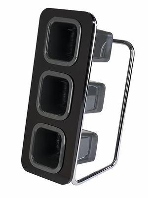 APS Besteckständer -TRIPLE TOWER- SET schwarz, B: 18 cm, T: 26 cm, H: 43 cm