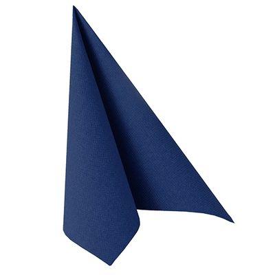 50 serviettes de table Papstar «Collection ROYAL» 1/4 de pli 40 cm x 40 cm bleu foncé